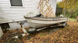 14ft Aluminum Boat with Trailer for Sale in Waterford Township, MI