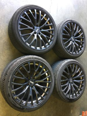 "Mercedes Benz 20"" Black Advanti Wheels and Yokohama Tires, Set of 4 for Sale in Mountain View, CA"