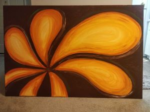 Flower handmade canvas painting for Sale in San Francisco, CA