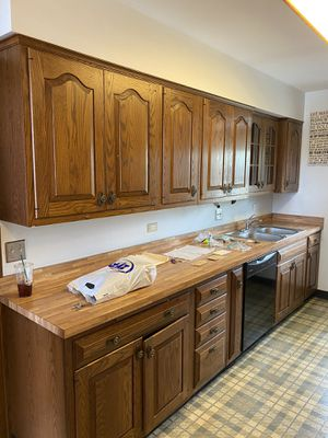 Wooden kitchen cabinets with sink and faucet for Sale in Chicago, IL