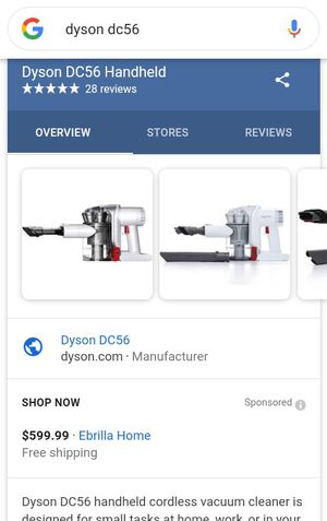 Used but works great DYSON DC56 VACUUM CORDLESS for Sale in Denver, CO