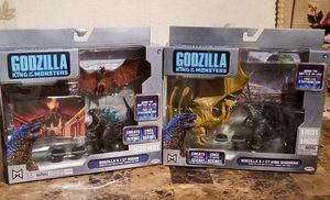 King of the Monsters Godzilla & / ET Rodan & ET King Ghidorah Action Figure Sets for Sale in Florissant, MO