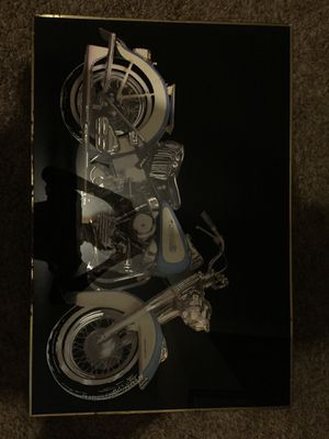 Etched glass rare Harley Davidson poster for Sale in Clinton, IA