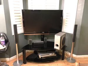Tv,stand, speakers for Sale in San Jose, CA
