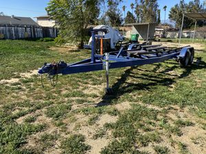 Boat trailer has front step ladder for Sale in Norco, CA