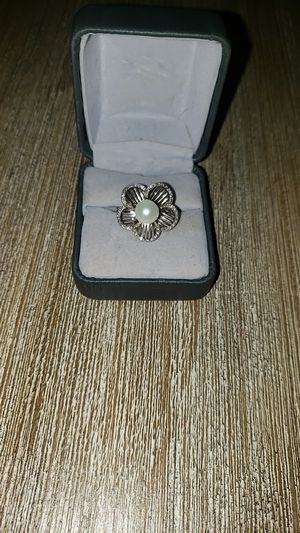 Sterling silver with Pearl flower ring for Sale in Carrollton, TX