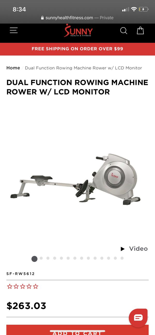 Rowing Machine with LCD Monitor