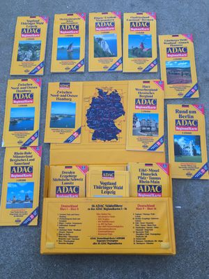 Germany maps- ADAC - Maps Of Berlin- Hamburg- Set Of 38 Maps! In Plastic Case! Bremen- Hanover- & More! Excellent Condition! for Sale in West Covina, CA