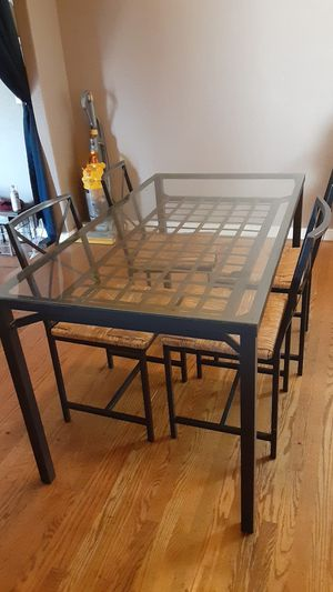 IKEA glass dining table and chairs for Sale in Fremont, CA