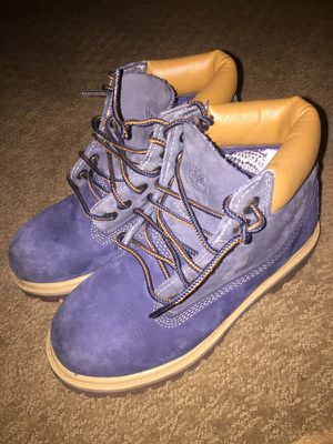 Blue size 12 kids timberlands for Sale in Washington, DC
