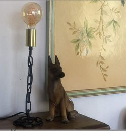 """Magland Industrial Table Lamp 16""""H, Black and Brass Finish,Iron Chain Welding Lamp Body UL Certificated for Sale in Mesquite,  TX"""
