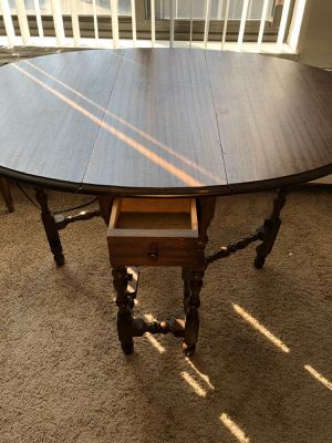 Antique wood table H. 30. L. 47. D. 36. Inch for Sale in Winnetka, IL