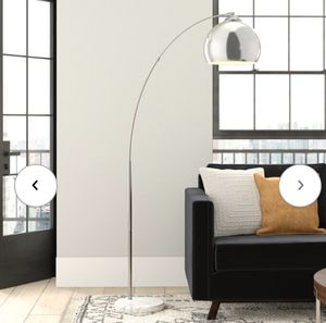 """Lamp 67"""" arched floor silver and white for Sale in New York, NY"""