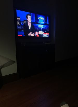 42 inch Panasonic plasma TV and cabinet for Sale in Newton, MA