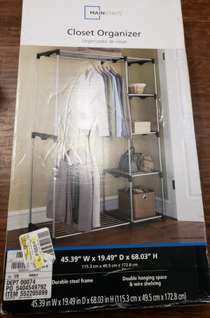 Mainstays Wire Shelf Closet Organizer, 2-Tier for Sale in Irving, TX