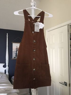 Small corduroy overall dress NEW with tags for Sale in Carrollton, TX