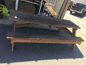 Solid Wood Picnic Table for Sale in Marietta, GA