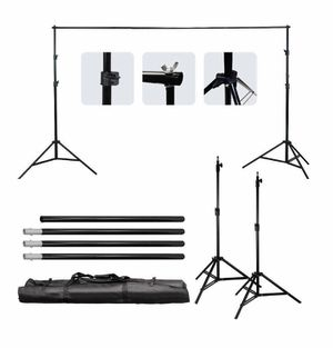 Ktaxon 10x6.5ft Adjustable Background Support Stand Photo Studio Backdrop Crossbar Set for Sale in Atlanta, GA