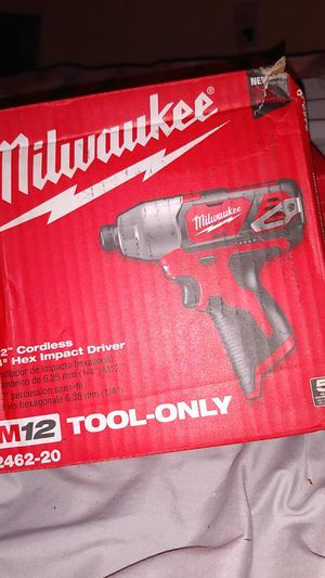 Milwaukee m12 impact drill for Sale in Puyallup, WA