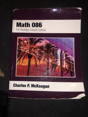 Math 086 Book for Sale in Los Angeles, CA