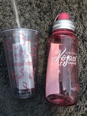Longaberger Horizon of Hope Bottle and Cup for Sale in Vancouver, WA