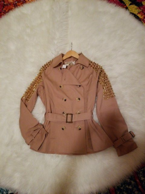 new with tags spike trench coat Size L