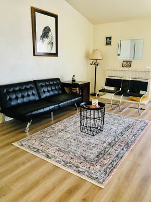 Black Leather Sofa Bed for Sale in Palm Desert, CA