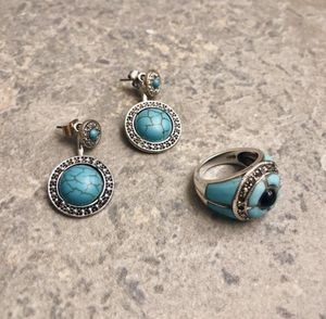 925 sterling silver turquoise ring and earrings set for Sale in San Antonio, TX