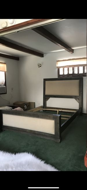 Queen Size Bed Frame and Matching Dresser for Sale in Fullerton, CA
