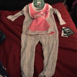 Baby Puma 3 Piece Set Size 6/9 Months for Sale in Camden,  AL