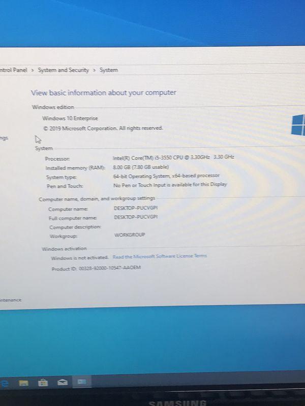 Lenovo ThinkCentre desktop