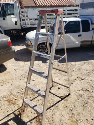 Werner 6 foot aluminum ladder great shape for Sale in Las Vegas, NV