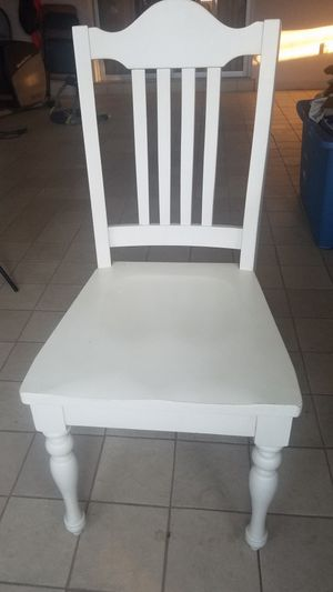 Wooden white chair for Sale in US