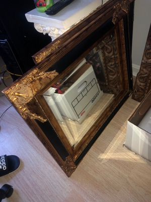 Set of 2 antique vintage wooden mirrors for Sale in Odenton, MD
