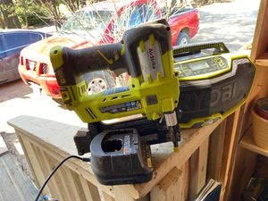 Ryobi charger nailgun and radio for Sale in Elk Grove, CA