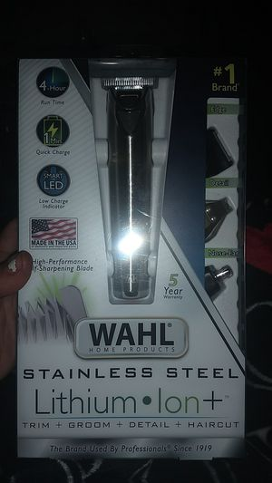 Cordless WAHL Lithium Ion Stainless Steel all in one for Sale in Renton, WA
