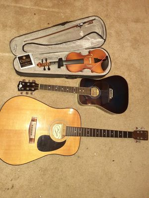 Instruments lot ,2 guitars harmony and prelude 1 violin ,cecilio,$69 everything for Sale in Phoenix, AZ