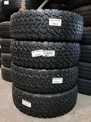 (4) USED TIRES LT275/65R20 BF GOODRICH K02 275/65R20 TRUCK TIRES F250 RAM2500 F350 CHEVY 2500 275 65 20 ALL TERRAIN for Sale in Fort Lauderdale, FL