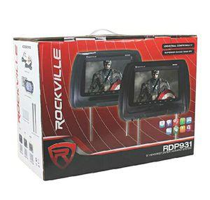 "New Rockville RDP931-GR 9"" Black Car DVD/USB/HDMI Headrest Monitors+Video Games for Sale in Orlando, FL"