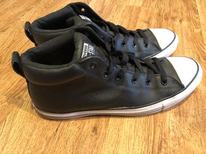 Size 13 Men's converse leather hi-tops like new for Sale in San Diego, CA