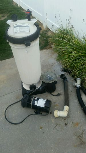 Pump-Waterways 3/4 hp and Pentair filter cartridge for Sale in Temecula, CA