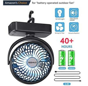 Brand new 5000mAh Camping Fan with LED Lights, 40 Hours Max Working Time Tent Fan with Hanging Hook for Sale in San Jose, CA
