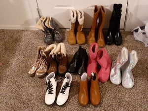 Girls size 5 boot bundle for Sale in Midwest City, OK