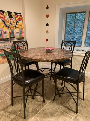 Entertainment table 4 chairs tall for Sale in Manhasset, NY