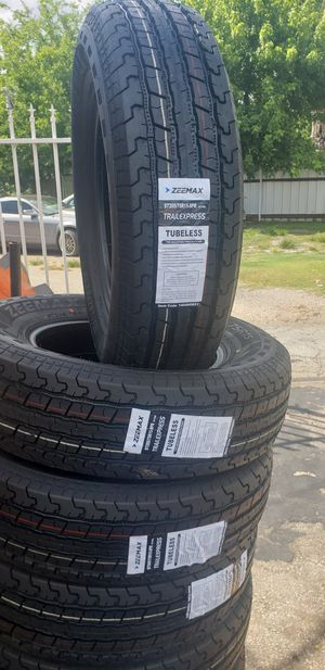 205/75/15 NEW TRAILER TIRES FOR 280 DOLLARS WITH EVERYTHING INCLUDED TAX INCLUDED FINANCING AVAILABLE NO CREDIT CHECK, 90 DAYS SAME AS CASH for Sale in Houston, TX