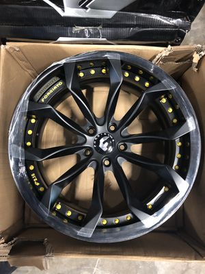 22X10 Forgiato Black wheels available for vehicles in 5x127 for Sale in Miami, FL
