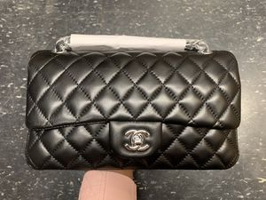 8faa09fb0813 Chanel Black Lambskin 10inch 2.55 Double Flap Classic Shoulder bag for Sale  in San Leandro