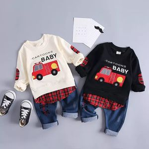 New Spring Infant Clothing Baby Girl Boys Clothes Suits Embroidery Cotton Car T Shirt Pants 2Pcs/Set Casual Kid Children Costume for Sale in Orlando, FL