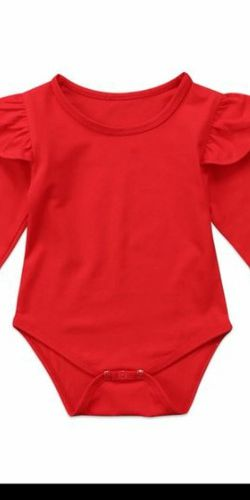 Red Long Sleeve Onesie 🍎 for Sale in Whittier,  CA