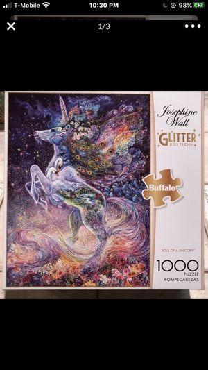 NEW!!!1000 Piece Puzzle GLITTER UNICORN for Sale in Torrance, CA